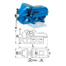 Menghina de banc tip IRONGATOR cu Sistem Rapid UNIOR 120mm 721Q/6