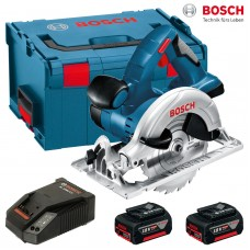 Circular cu acumulator Bosch GKS 18 V-LI 2 x 4,0 Ah L-Boxx