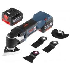 Taietor vibratii cu acumulator Bosch GOP 14,4 V-EC Multi-cutter 2 x 4,0 Ah L-Boxx